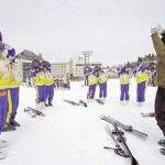 スキー講習 (準備運動)