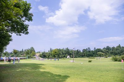 芝生広場-マレットゴルフ